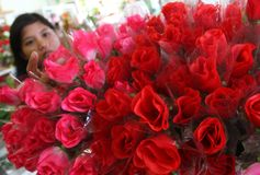 Fleur de Saint Valentin Photographie stock libre de droits