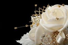 Fleur de satin de Weding Photos stock