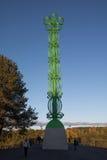 Fleur de sculpture à Alytus, Lithuanie Photo stock