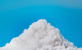 Fleur de sel, white sea salt crystals isolated Stock Images