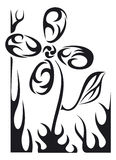 Fleur de tatouage de vecteur Images libres de droits