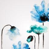 Fleur de vecteur d'aquarelle Photos stock