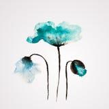 Fleur de vecteur d'aquarelle Photos libres de droits