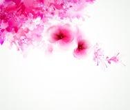 Fleur deux avec les taches abstraites Image libre de droits