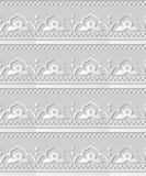 fleur Dot Line de vue de croix de courbe d'art du livre blanc 3D Photographie stock