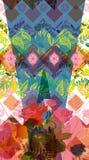 Fleur du Brancovan 9 géométrique Photos libres de droits