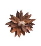 Fleur en bois artistique Idée de collage et de métier images stock