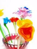 Fleur en cristal orange brillante Images stock