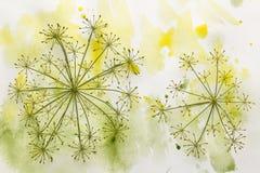 Fleur en peinture colorée photo libre de droits