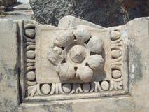 Fleur en pierre Ephesus Turquie Image libre de droits