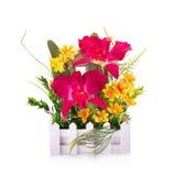 Fleur en plastique pour la décoration images libres de droits