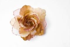 Fleur en soie Photographie stock libre de droits