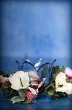 Fleur en verre photos stock