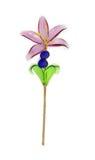 Fleur en verre photographie stock