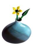 Fleur en verre dans un vase image libre de droits