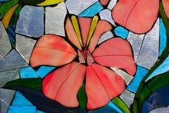 Fleur en verre souillé Image libre de droits