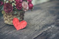 Fleur et coeur Photos stock