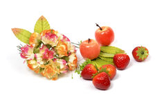 Fleur et fruits Photo stock