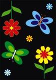 Fleur et guindineau Photo stock