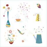 Fleur et vase Photographie stock