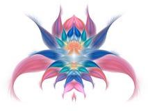 Fleur exotique abstraite sur le fond blanc Images libres de droits