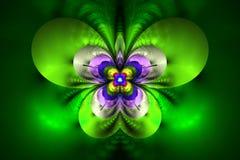 Fleur exotique abstraite sur le fond blanc Photographie stock libre de droits