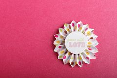 Fleur fabriquée à la main Photo libre de droits