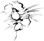 Fleur fabriquée à la main de peinture illustration stock