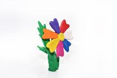 Fleur faite à partir de la pâte à modeler Images libres de droits