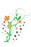 Fleur florale Photo libre de droits
