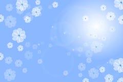 Fleur florale bleue de fond Photographie stock