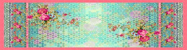 Fleur florale sans couture avec le fond abstrait num?rique illustration de vecteur