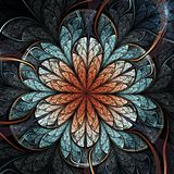 Fleur foncée de fractale illustration stock