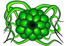 Fleur formée en vert Image libre de droits