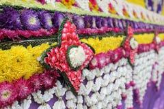 Fleur fraîche de travail manuel artificiel thaïlandais Photographie stock