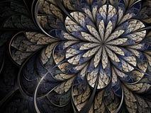 Fleur froide de fractale de l'hiver Photos libres de droits