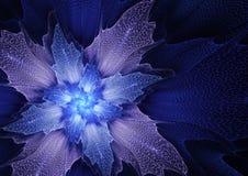 Fleur futuriste bleue Image libre de droits