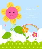 Fleur heureuse Photos libres de droits