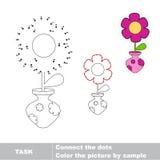 Fleur Joignez les points et trouvez la photo cachée Image libre de droits