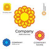 Fleur Logo Beauty Modern Identity Brand de découpe et calibre réglé de concept de symbole d'icône d'APP Image libre de droits