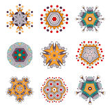 Fleur Mandala Doodle Vector Designs de tatouage Photographie stock libre de droits