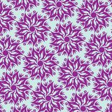 Fleur Mandala Seamless Pattern - bleu et pourpre Image libre de droits