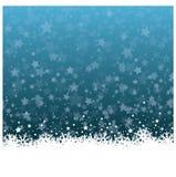 Fleur merveilleuse de glace de Noël avec le fond d'étoiles Image stock