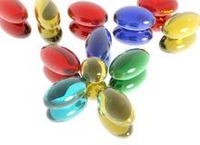 fleur multicolore construite du pil médical Photo libre de droits