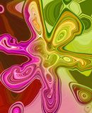 Fleur multicolore originale créative abstraite illustration stock