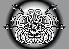 Fleur noire et blanche abstraite Illustration Stock
