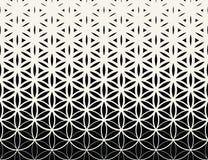 Fleur noire et blanche de gradient de la géométrie sacrée abstraite de modèle d'image tramée de la vie illustration stock