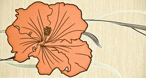Fleur orange Illustration Stock