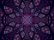 Fleur ou mandala abstraite de fractale - a digitalement produit de l'image illustration stock