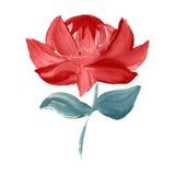 Fleur peinte par huile illustration stock